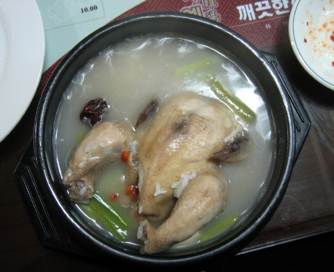 風邪を早く治すなら参鶏湯の肉は食べちゃダメ