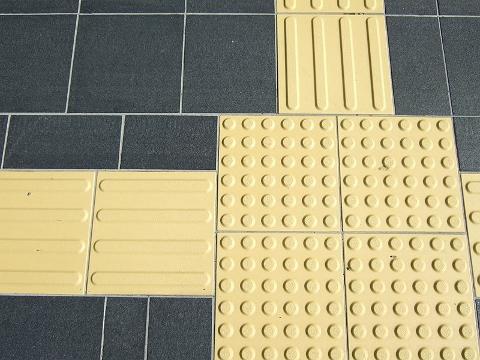 インナーマッスルを鍛える「点字ブロック」